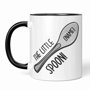 Funny Pun Mug, TeePee Creations, Little Spoon Mug, Gift for Husband, Gift for Wife, Gift for Girlfriend, Gift for Boyfriend, Anniversary Present, Wedding Present, New Home Present, Housewarming Gift, Valentines Day Gift, Spooning Gift