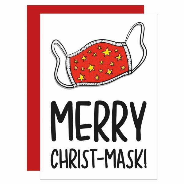 Pun Christmas Card, Funny Card, Lockdown Card, Face Covering Card, TeePee Creations, Confetti Card, Cotton Face Mask, Political Card, Boris Johnson Card, Social Distancing, Self Isolation Card, Mask Pun Card, Punny Card