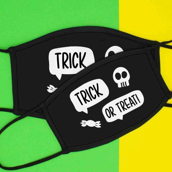 Halloween Face Mask, Trick or Treat Mask, Face Covering, Funny Face Mask, TeePee Creations, Childrens Mask, Costume Mask, Social Distancing, Adjustable Mask, Halloween Gift, Kids Face Covering, Triple Layered, Elasticated Mask