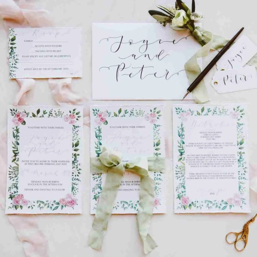 wedding stationary by the Amyverse