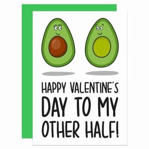 Valentines Day Card Pun Millennial Avocado Illustration Boyfriend Girlfriend Husband Wife Other Half Gift TeePee Creations Confetti Food Humour Funny Fruit Cute Adorable Vegetarian Vegan Partner