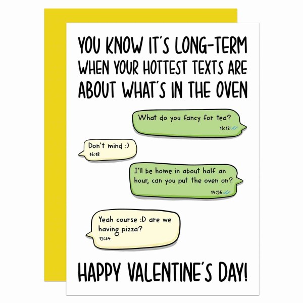 Funny Valentines Texts About Food TeePee Creations Confetti Sexting Card Married Gift Hottest Put Over On Pick Up Shopping Couple Day Boyfriend Girlfriend Husband Wife Long Term Relationship
