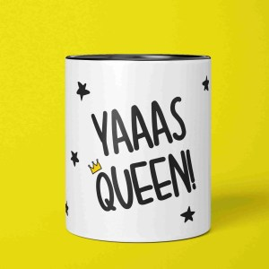 Drag Pencil Pot Funny Yas Queen RuPaul Birthday LGBT Décor Same Sex Gift Positive Affirmation TeePee Creations Make Up Brush Holder Present Diva Christmas Secret Santa Stocking Filler Best Friend