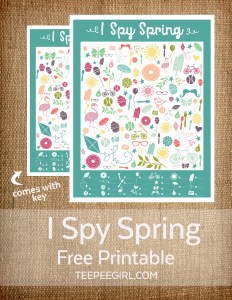 I Spy Spring Printable Game