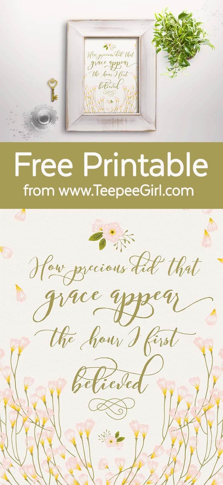 Amazing Grace Free 8x10 Printable from www.TeepeeGirl.com