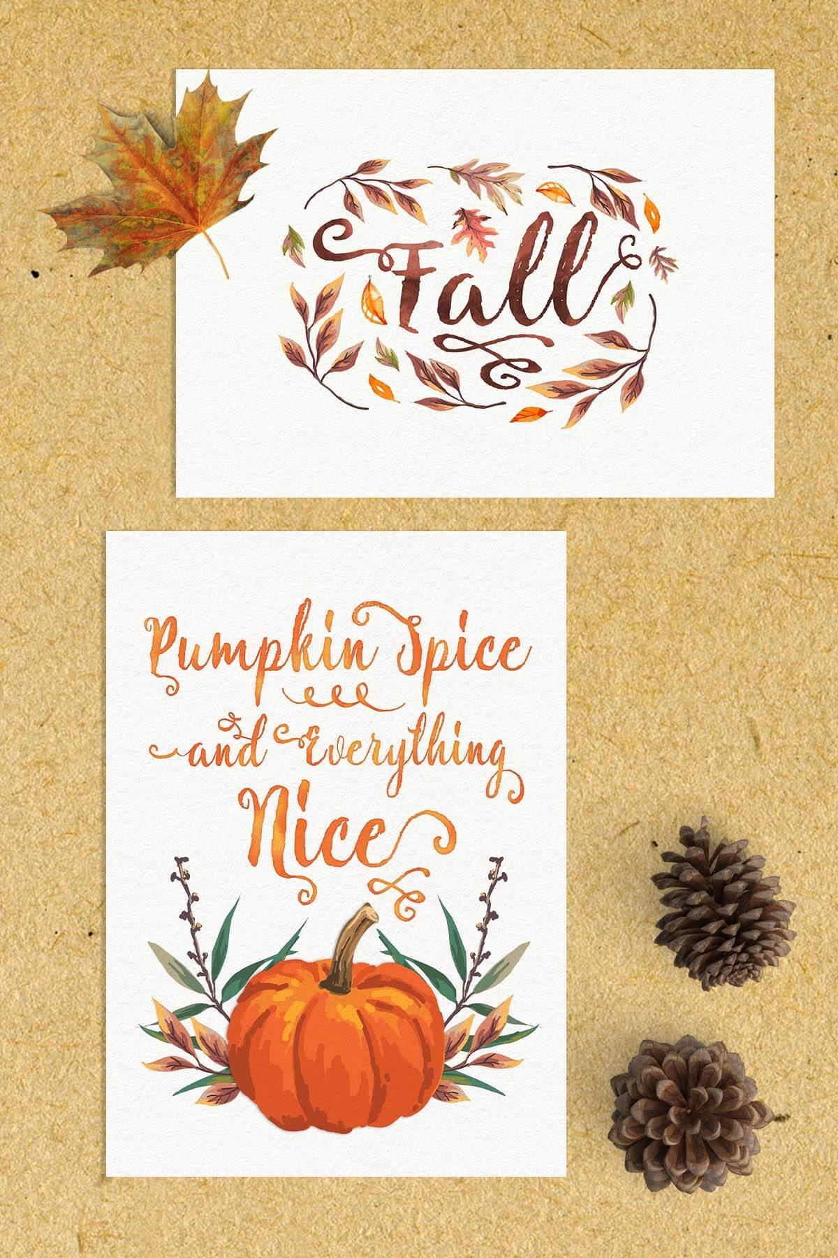 Free Fall Watercolor Printables