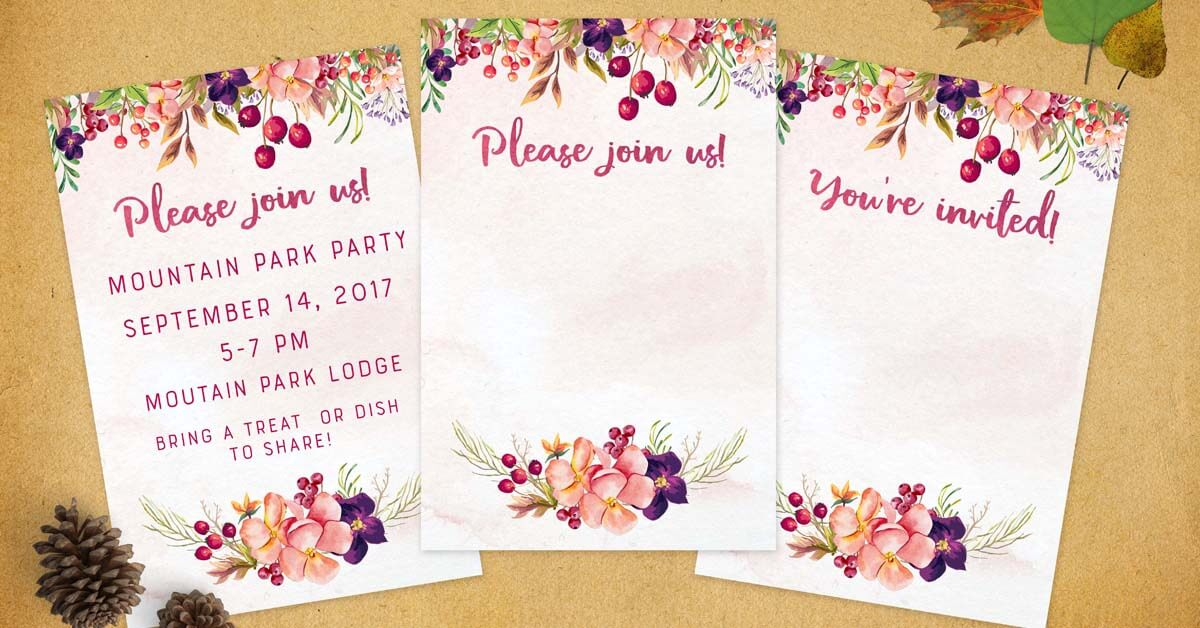 fall invitations party
