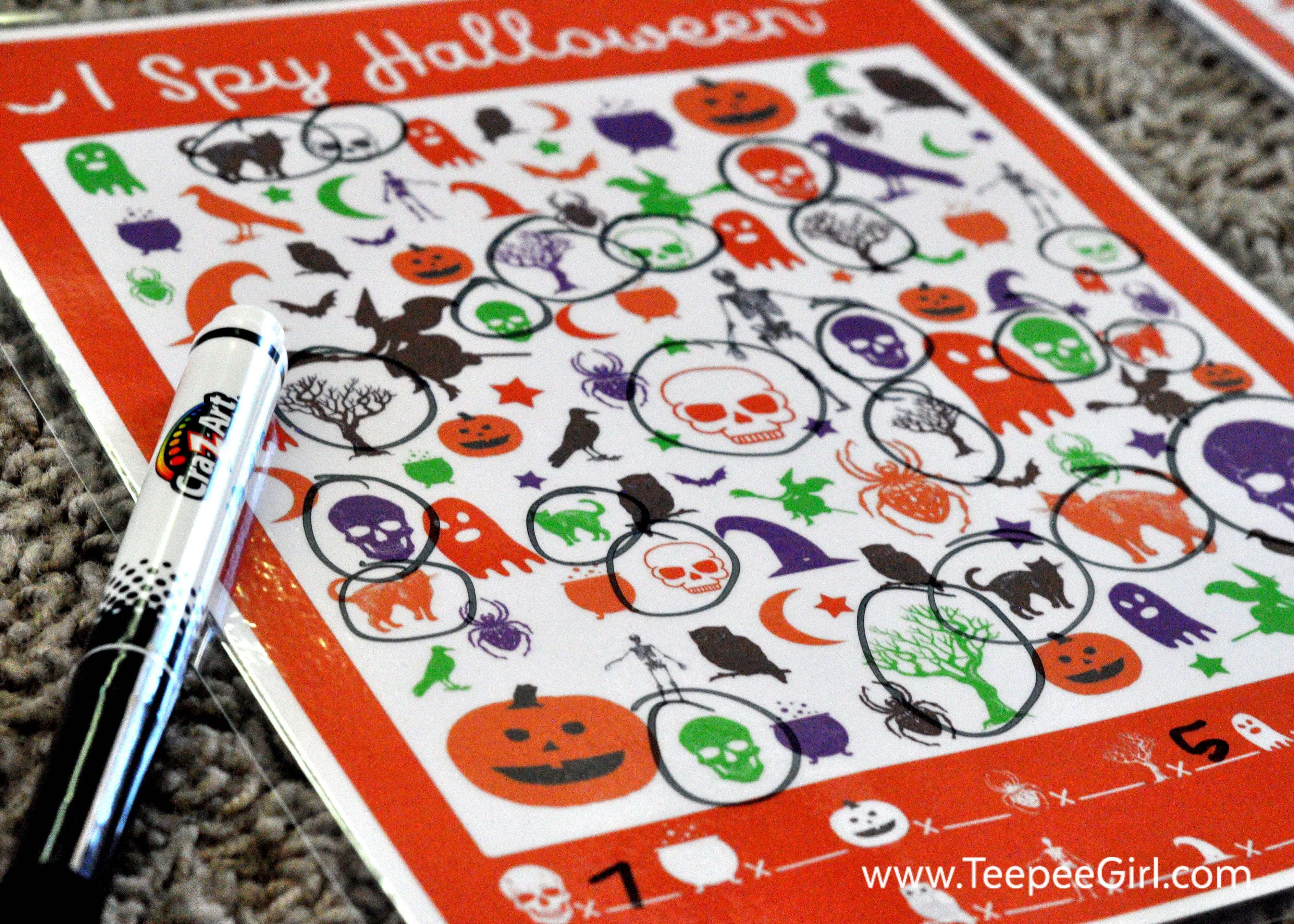 Free I Spy Halloween Game