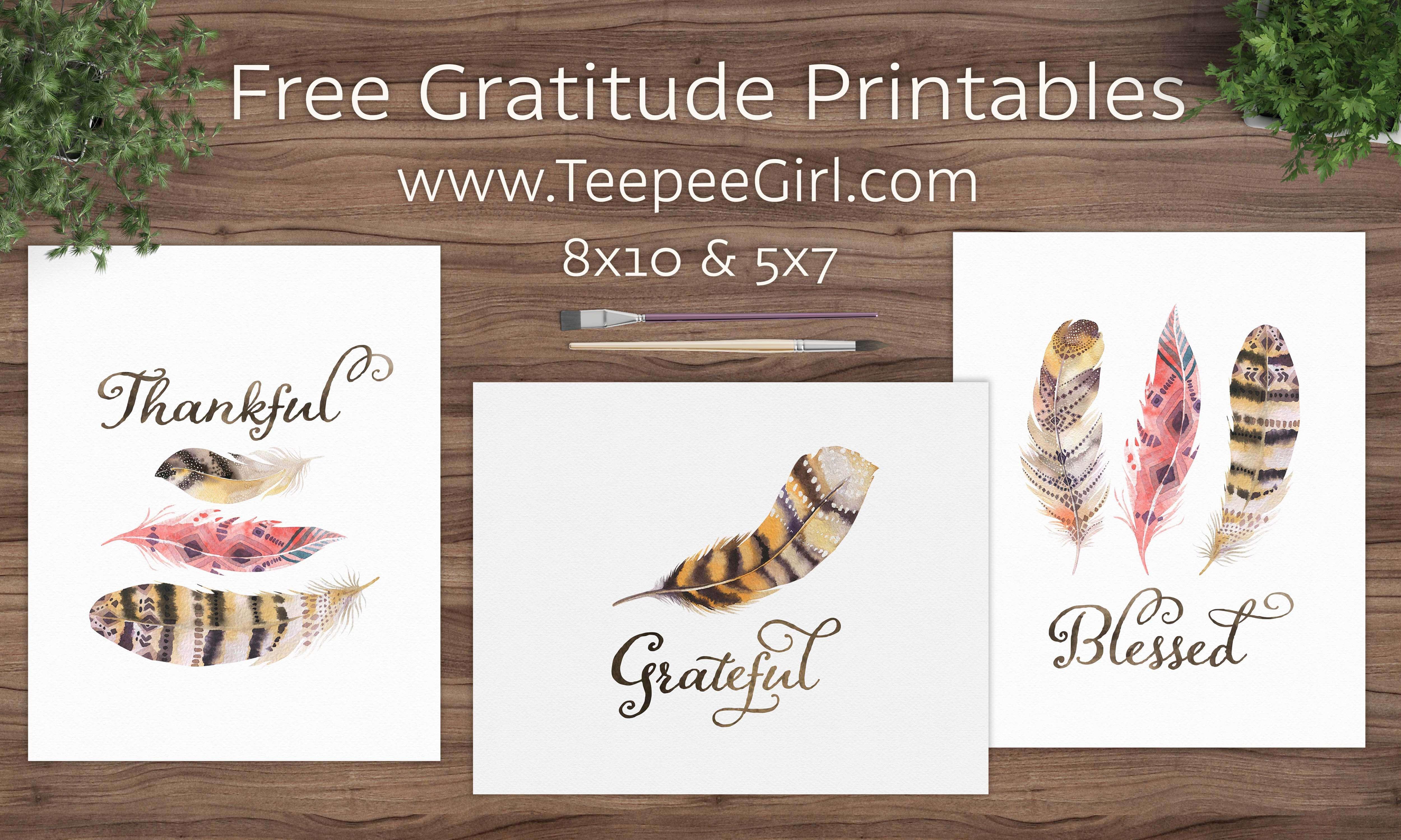 Free Gratitude Printables