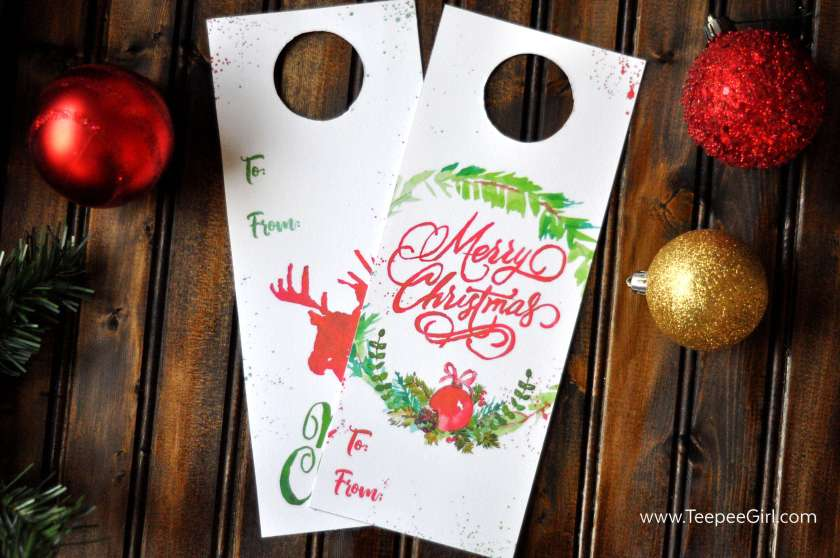 These free bottle tags are so festive and make gift giving simple and easy!! Just print out the tags and stick them on bottles that you want to dress up. Get them today at www.TeepeeGirl.com!