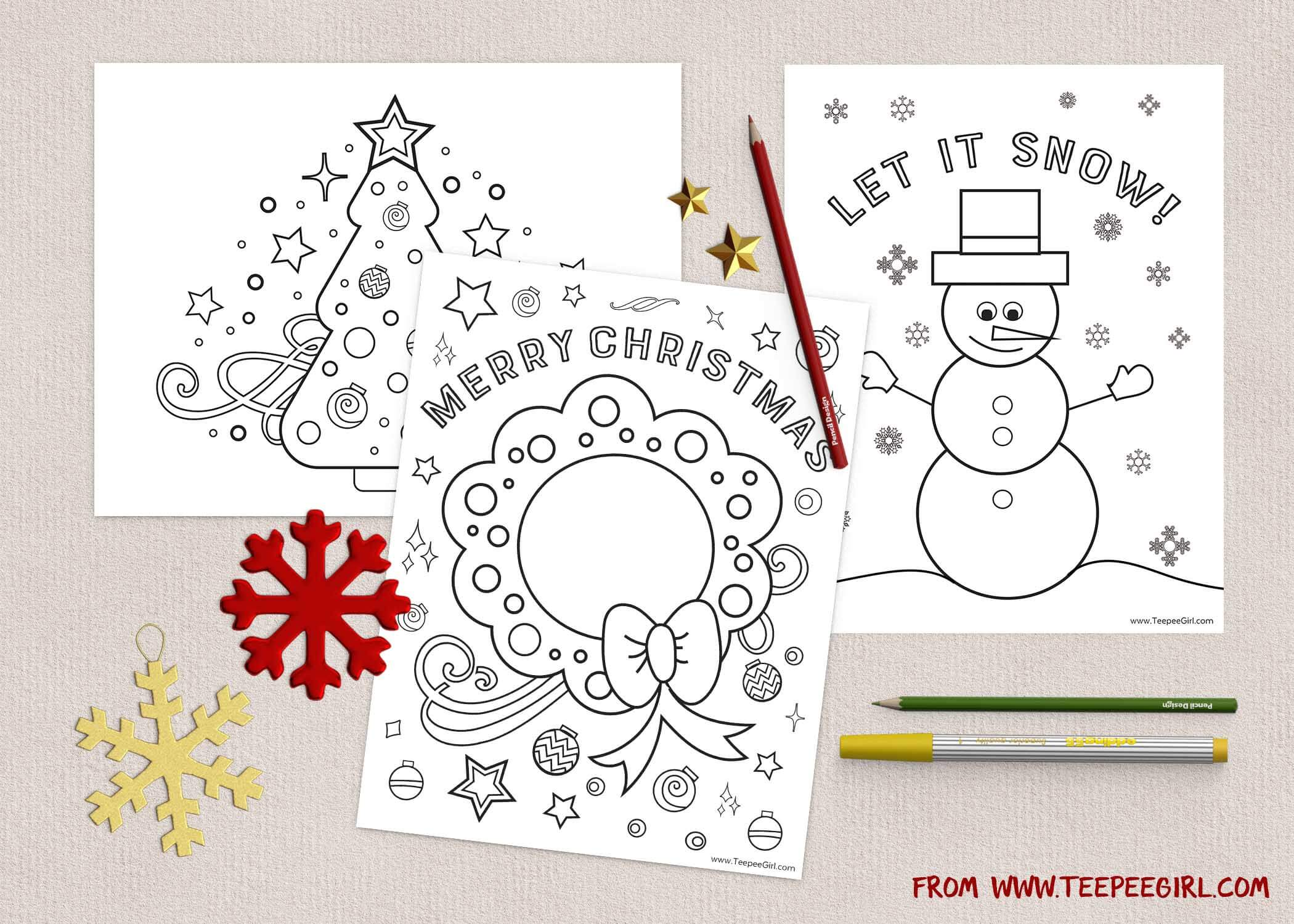 are you helping plan a school christmas party are you hosting christmas at your house and wondering how you are going to entertain all the little people - Christmas Coloring Pages Girls