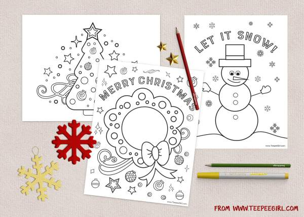 preschool christmas coloring pages # 7