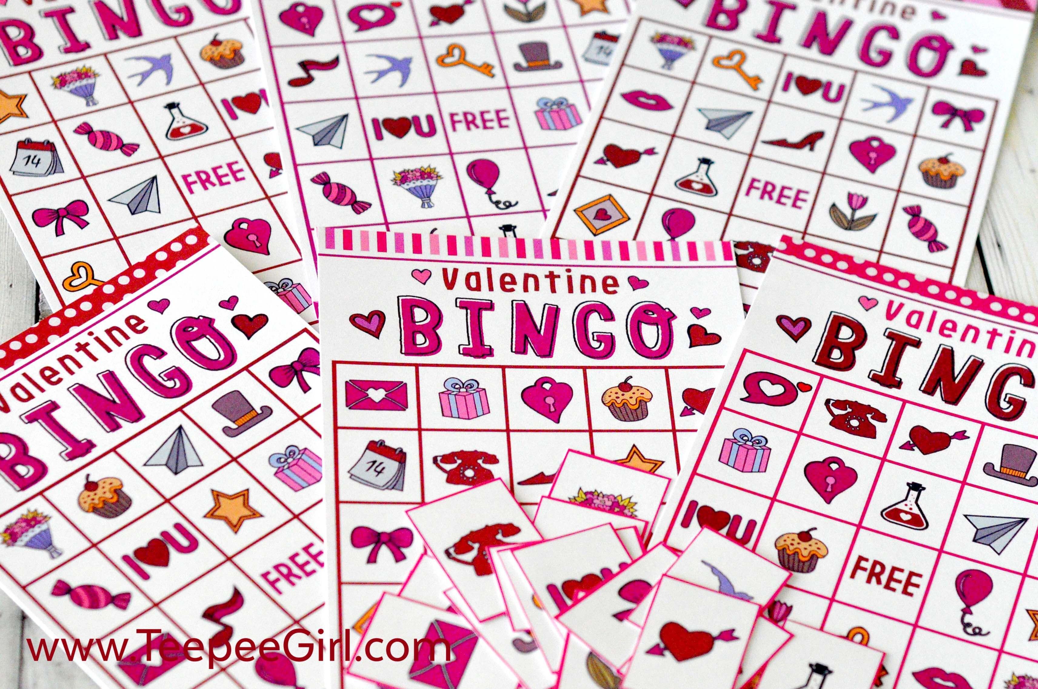 Free Valentineu0027s Day Bingo