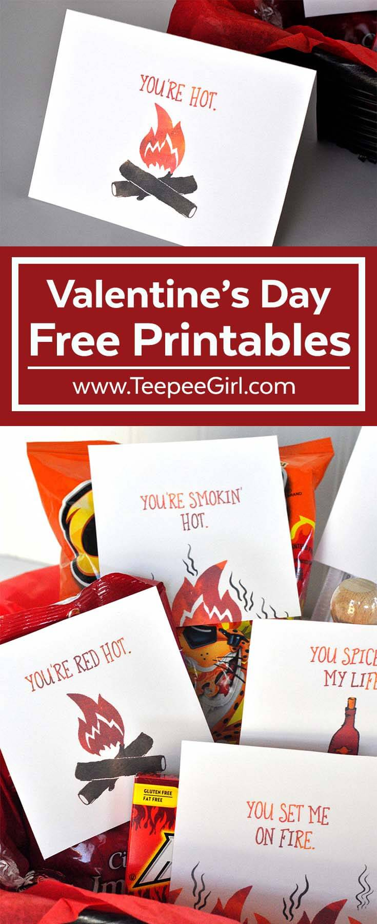 Valentine's Day Gift Printables - Teepee Girl