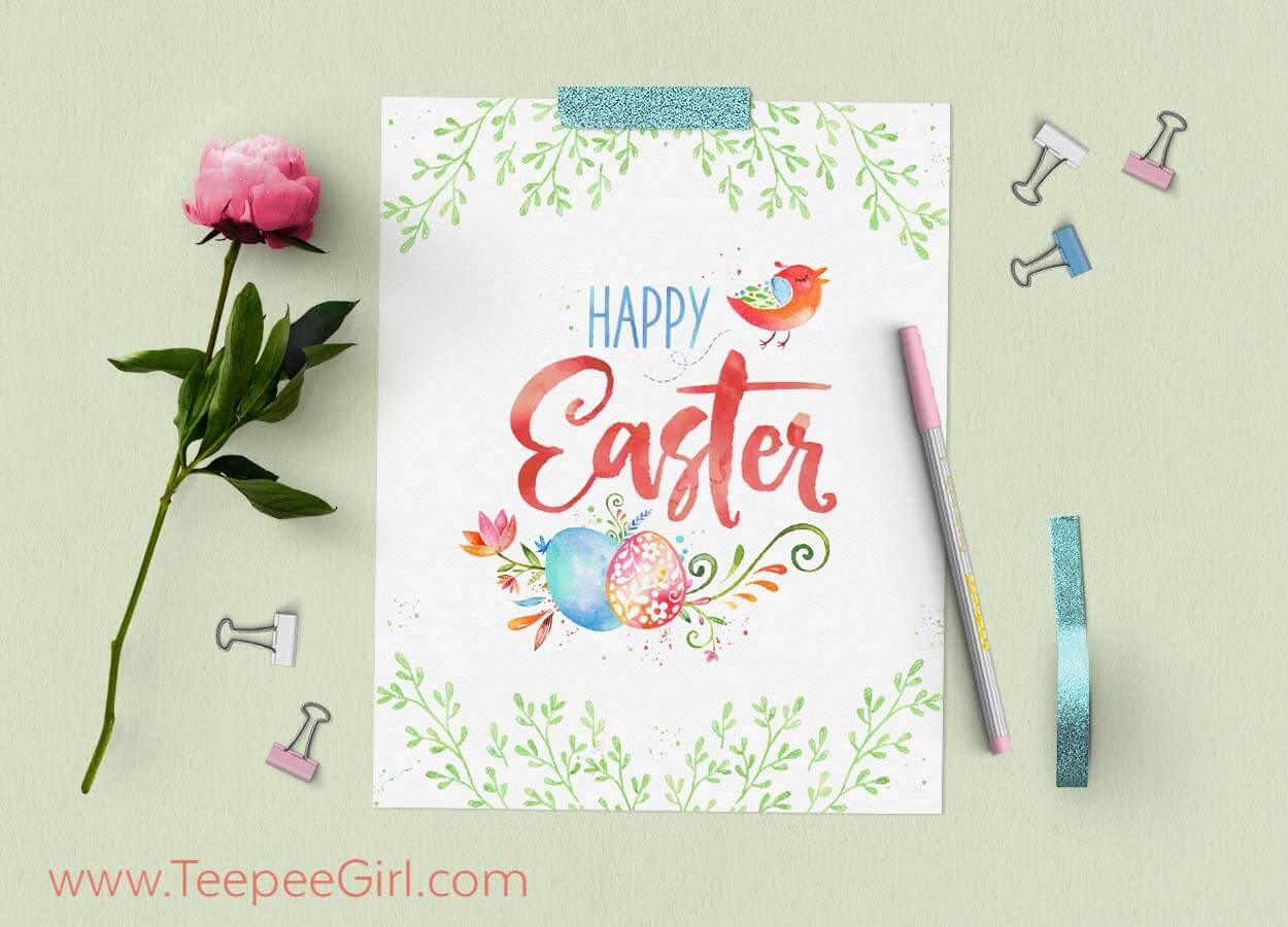 Get this free Easter printable at www.TeepeeGirl.com!