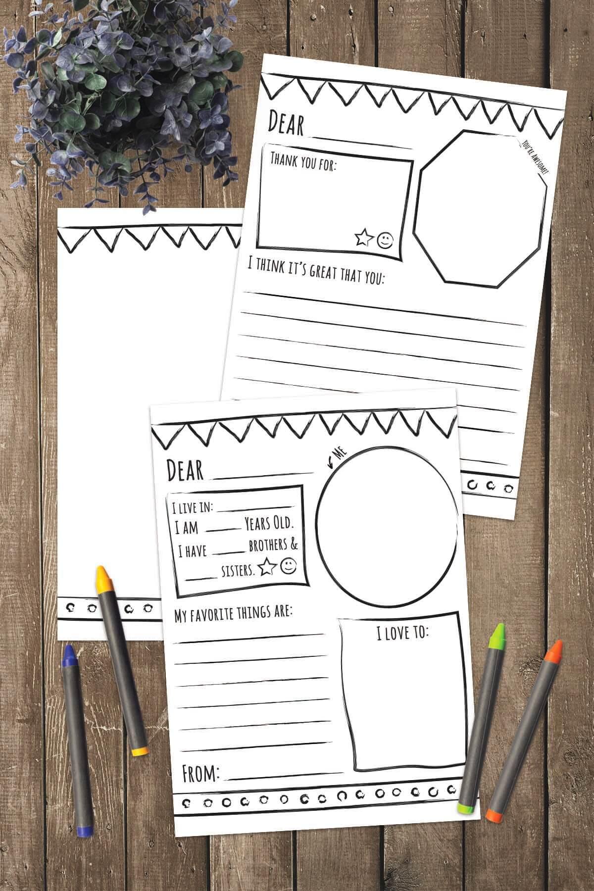 pen pals coloring pages - photo#27