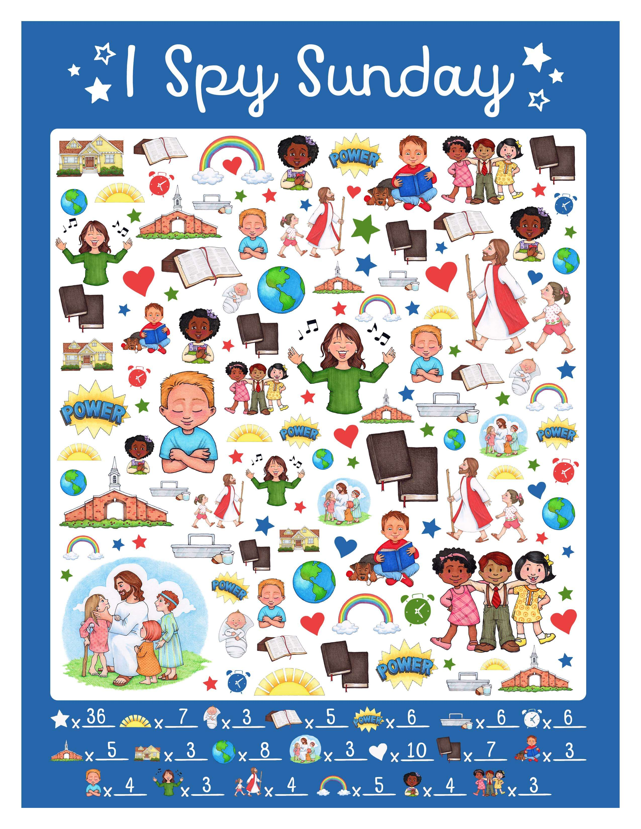 Free I Spy Sunday Printable Game Amp Answer Key