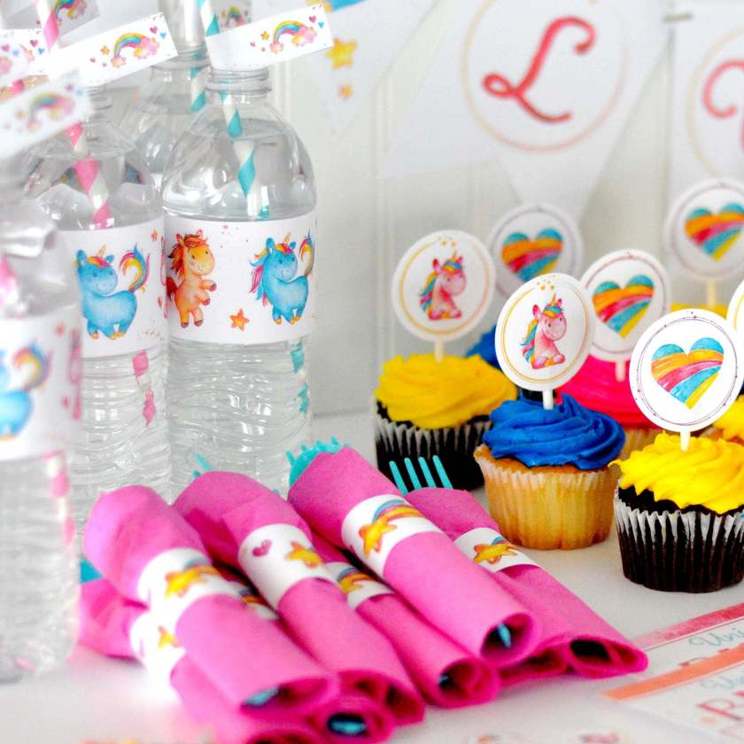 This Unicorn Party Printable Kit is all you need for your next party! www.TeepeeGirl.com