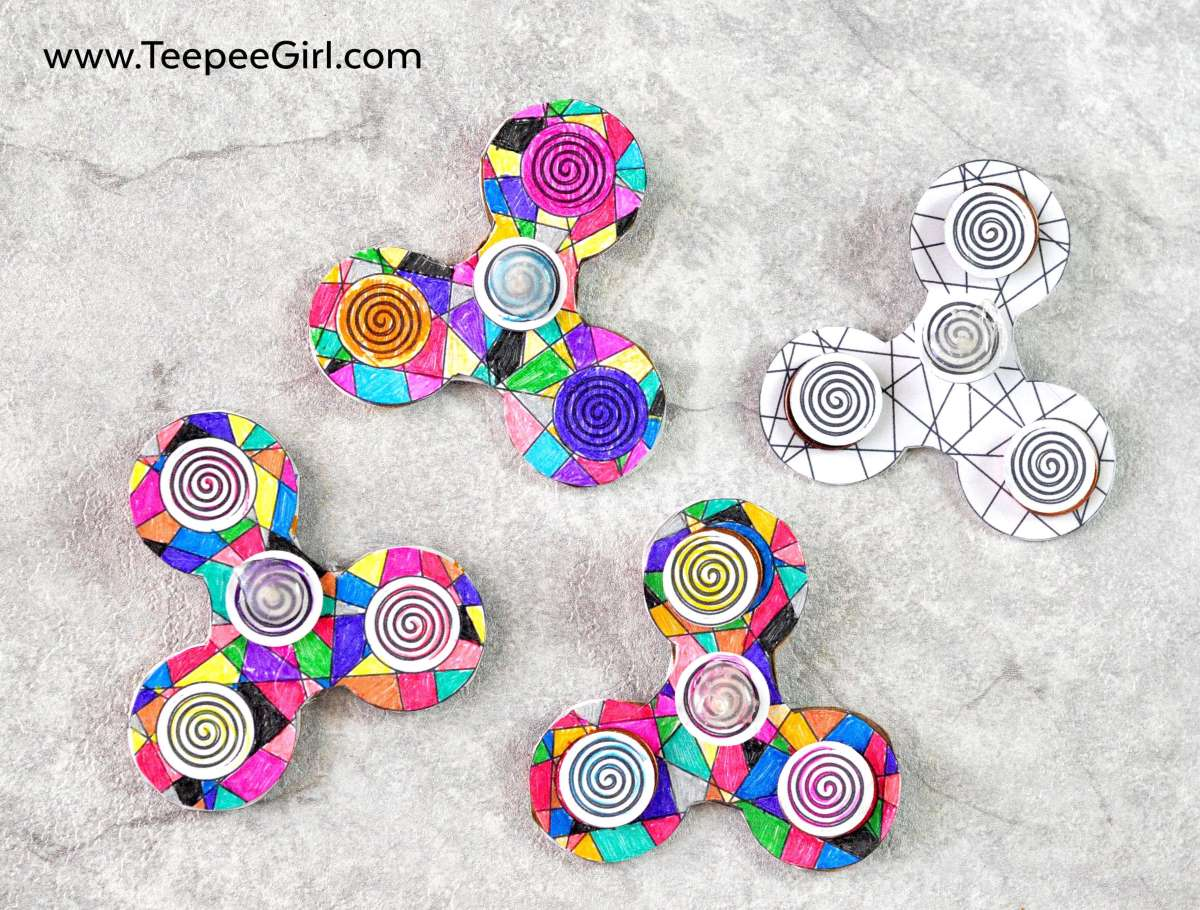 Color And Make Your Own Fidget Spinner This DIY Is Great For Keeping