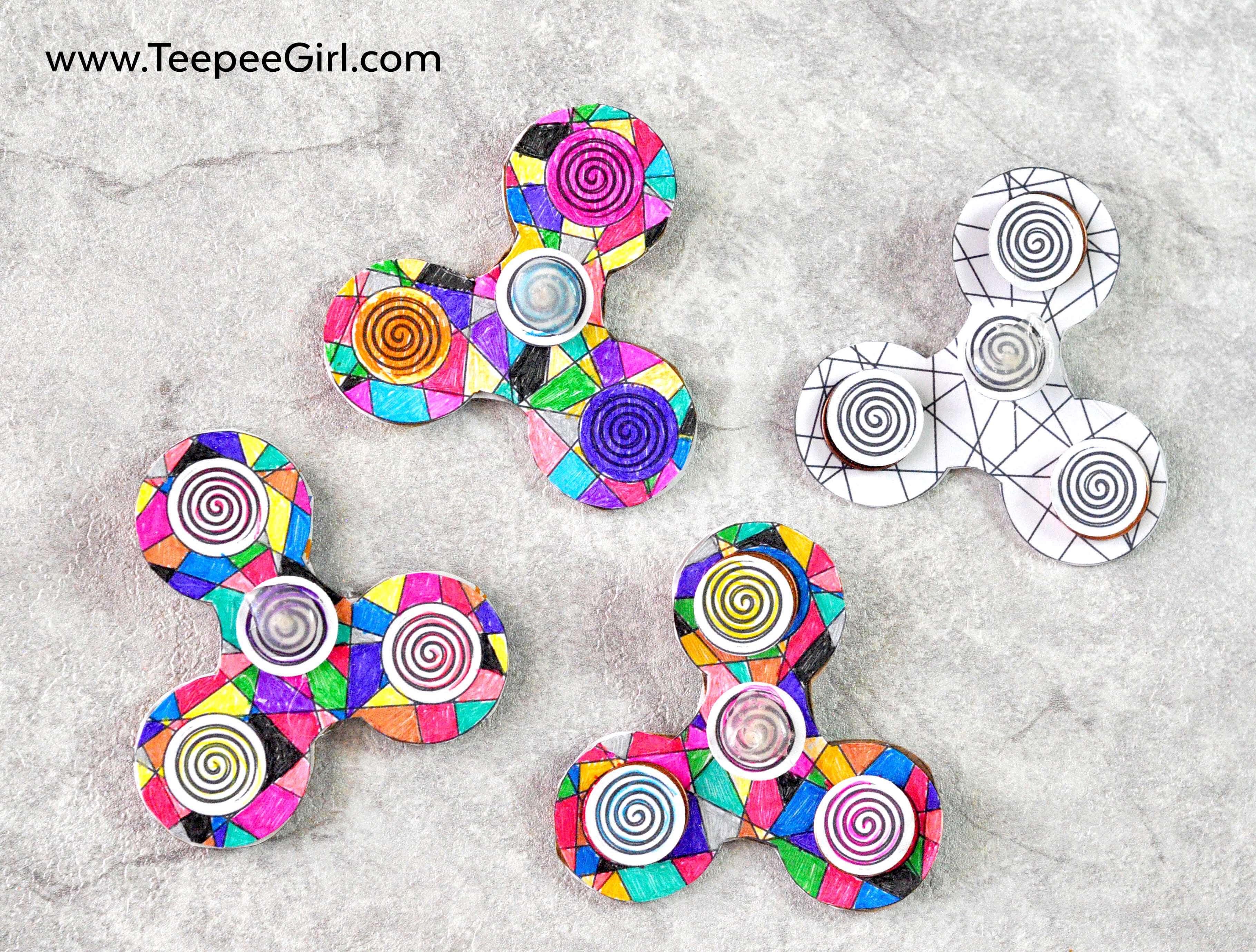 DIY Fidget Spinner Tutorial & Printable | www.TeepeeGirl.com