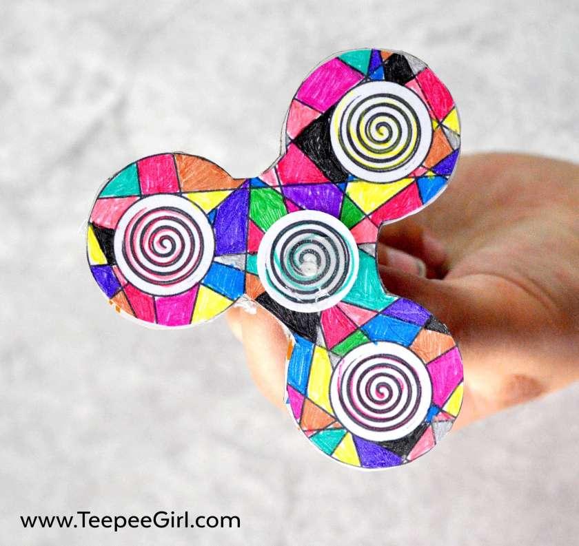 Ausmalbilder Fidget Spinner: DIY Fidget Spinner {Coloring Edition}