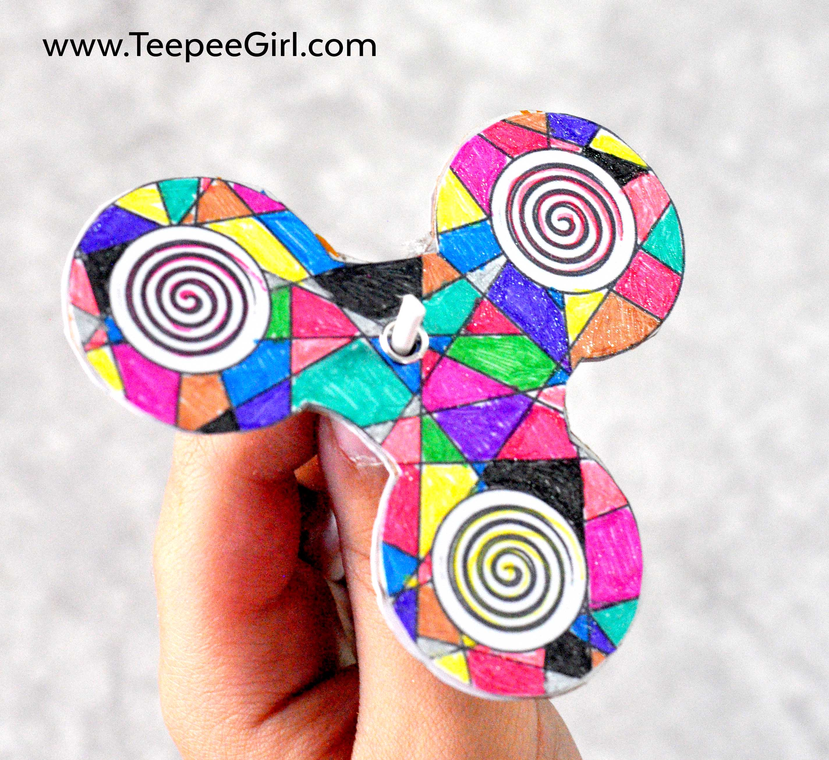 dy fidget spinner coloring 6 teepee girl