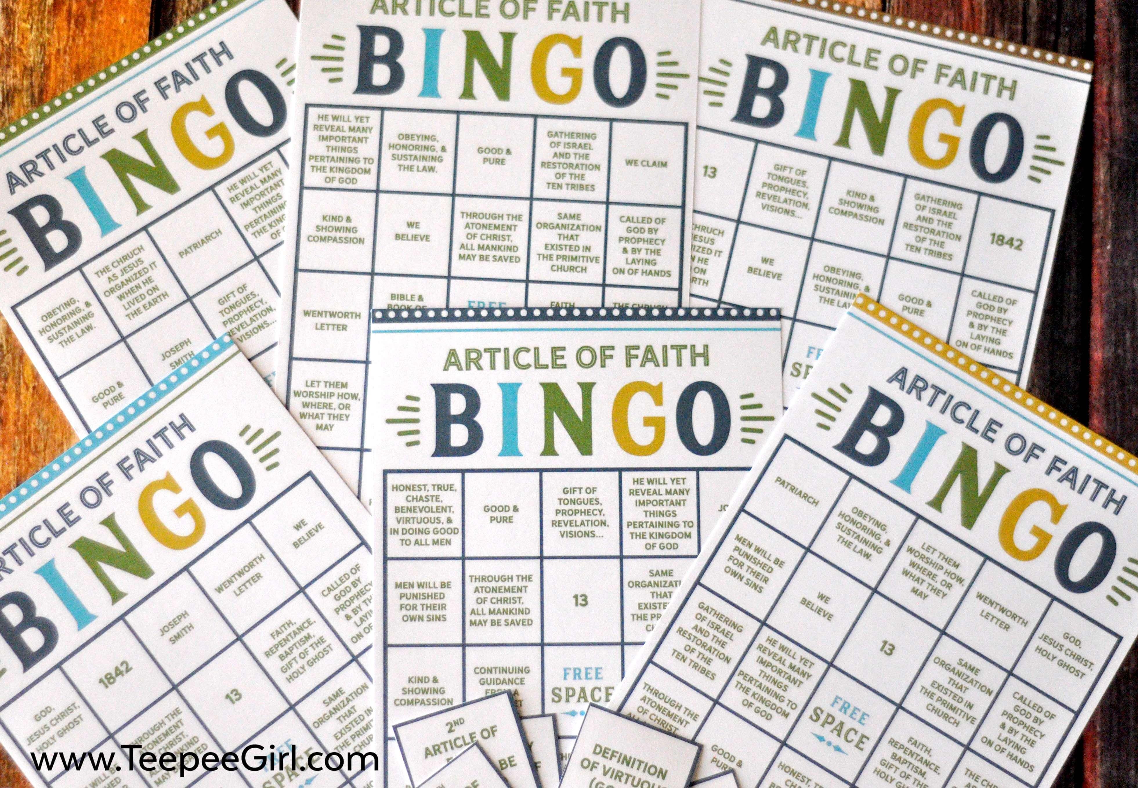 Article of Faith Bingo Game