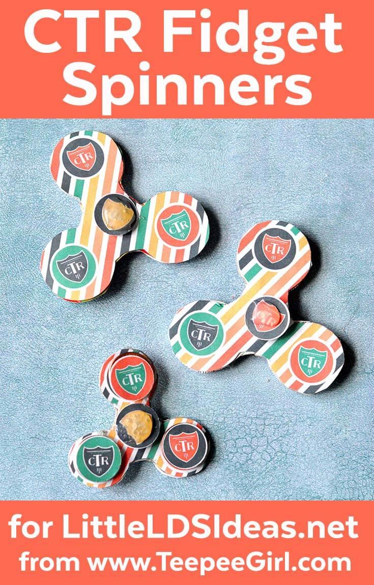CTR Fidget Spinners - DIY from www LittleLDSIdeas net