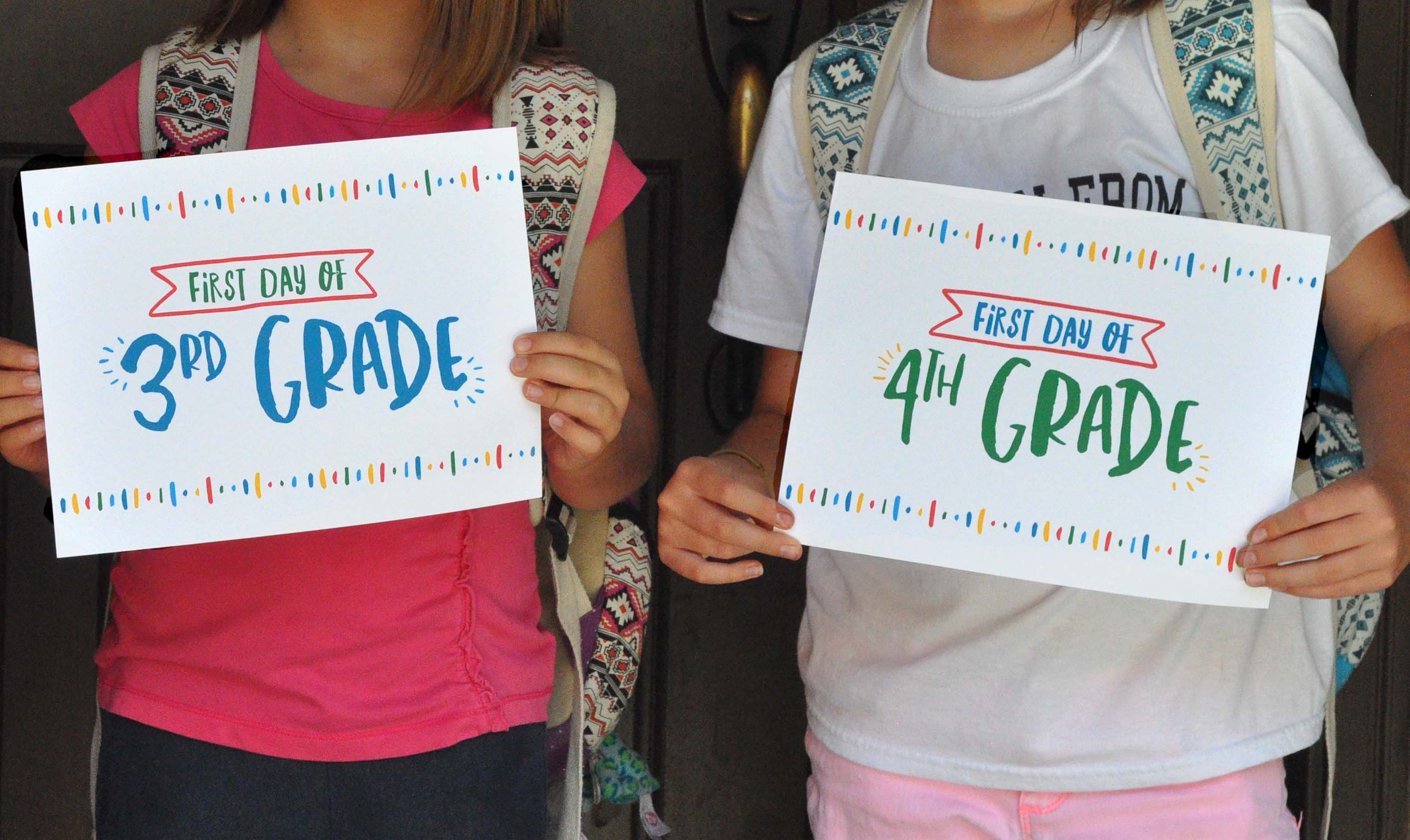 1st Day Of School Free Printables