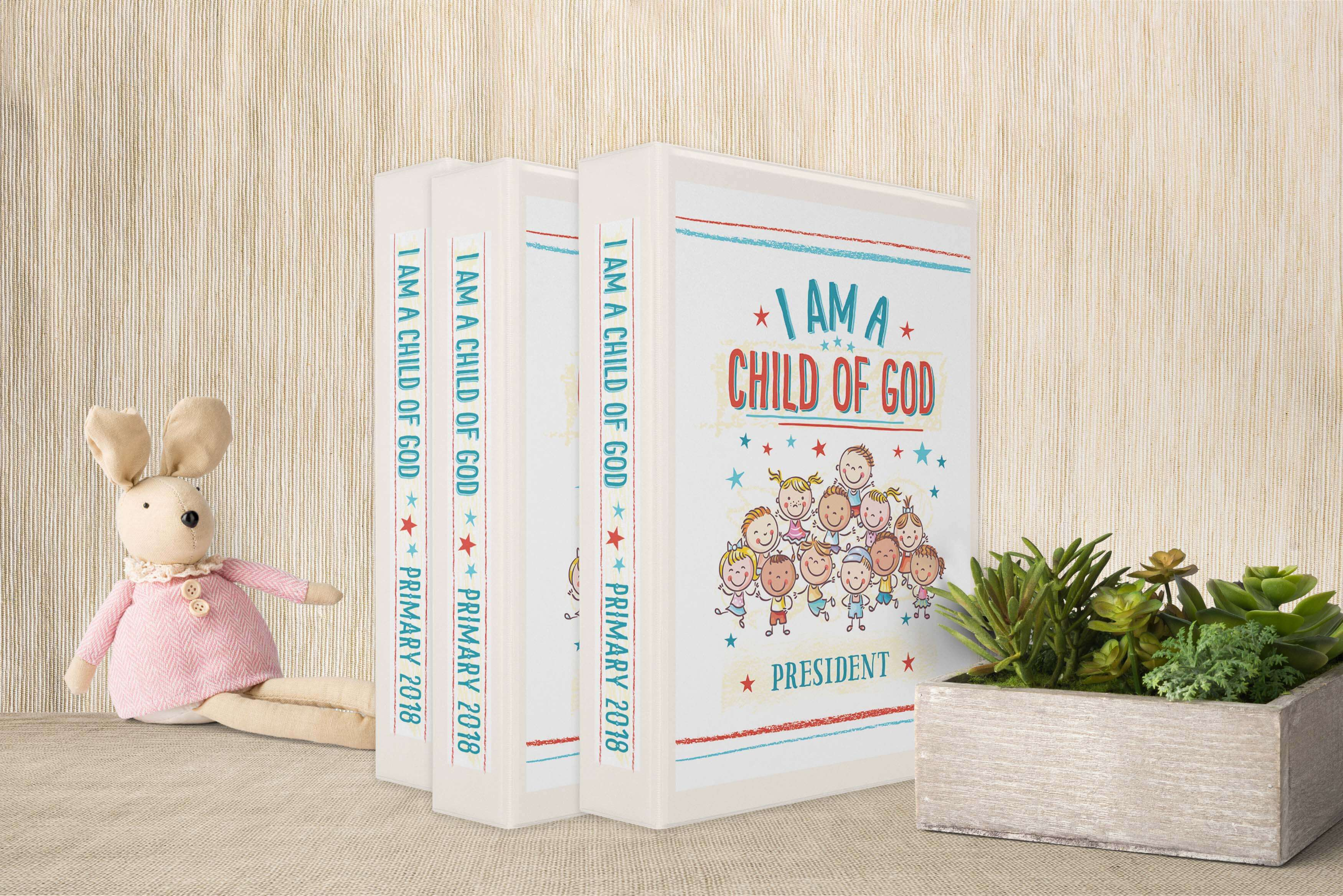 Free Primary 2018 Binder Covers I Am A Child Of God TeepeeGirl Spy Sunday Printable Game