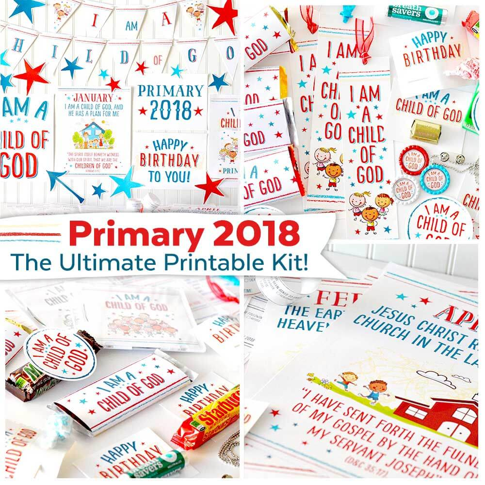 Primary 2018 I Am a Child of God Printable Kit - Teepee Girl