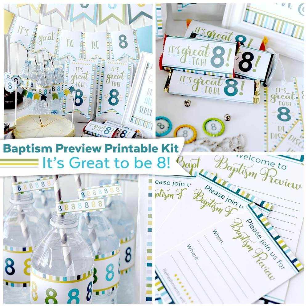 Baptism Preview/Great To Be 8 Printable Kit {New in Shop!} - Teepee Girl