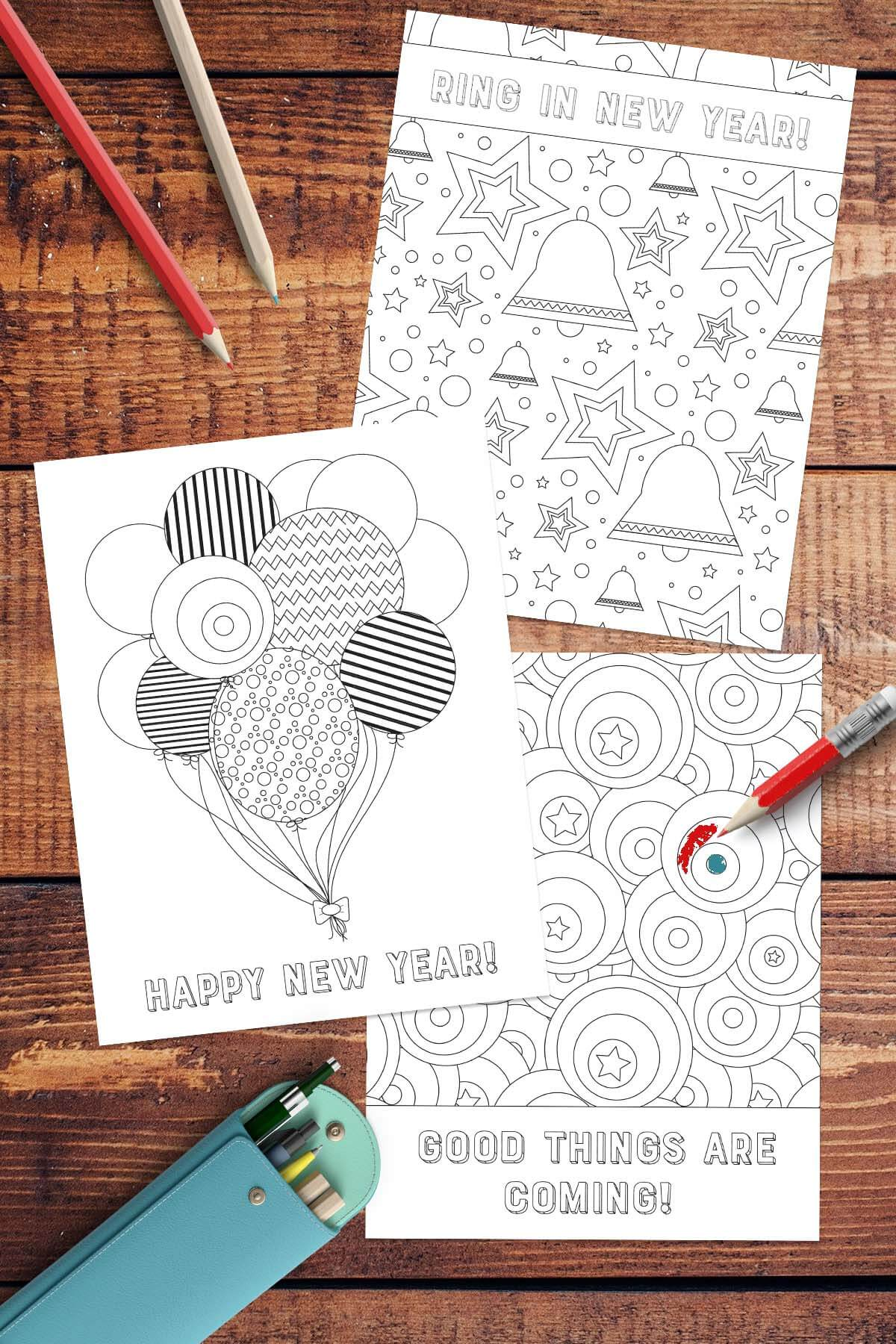 Free New Year Coloring Pages