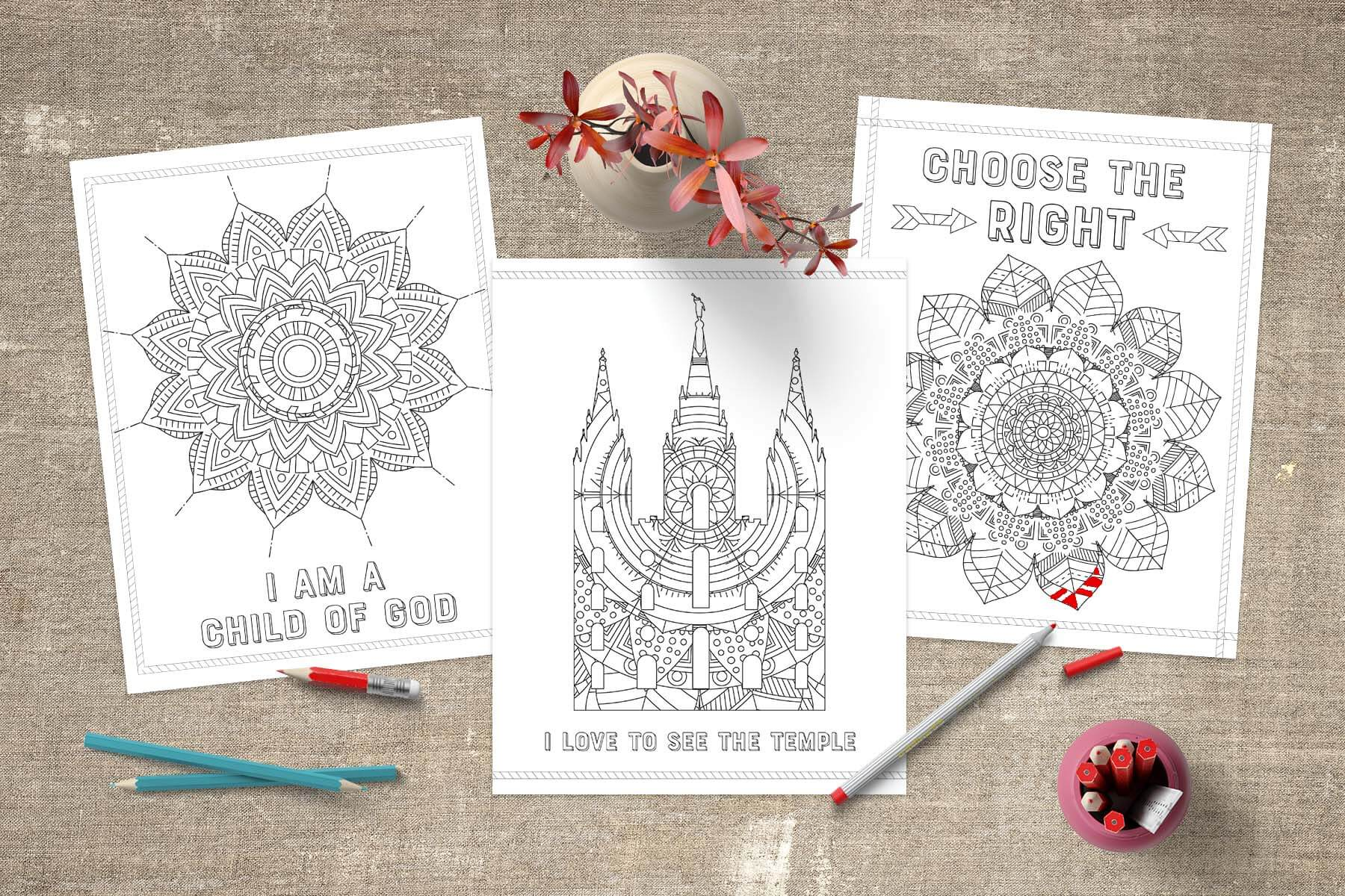 Lds Coloring Pages Pdf : April 2018 general conference free quote printables