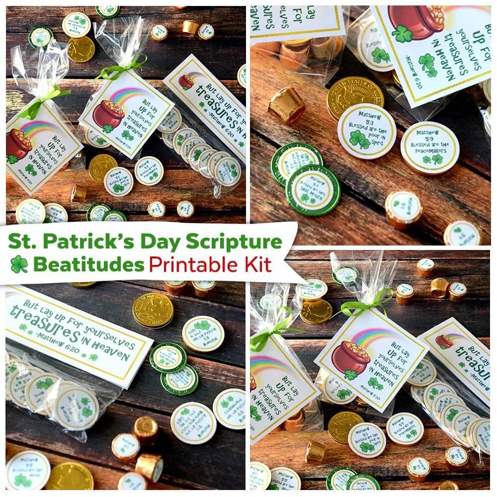 St Patricks Day Beatitudes Scripture Kit