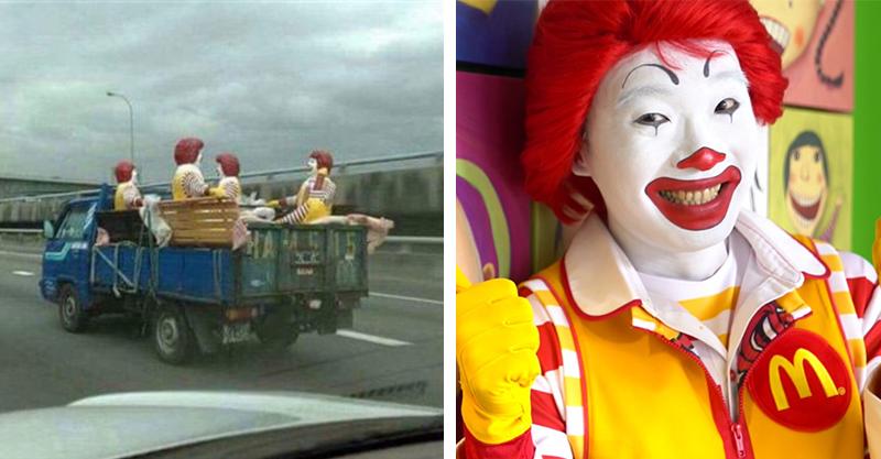 麥當勞叔叔搭貨車路上奔馳 宛如「遺失的美好」:我始終帶著你愛的微笑~