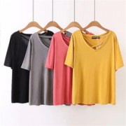 2018-Summer-Women-Tshirt-Sexy-V-Neck-Solid-Color-Top-Girls-Loose-Tops-Tees.jpg_220x220