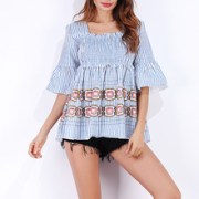 Summer-Women-Boho-Tops-tee-Shirt-Femme-2018-Casual-Striped-Half-Flare-Sleeve-Square-Neck-Ladies.jpg_220x220