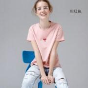 Toyouth-Women-Cotton-T-Shirts-Fashion-Watermelon-Print-Summer-T-Shirt-All-Match-O-Neck-Short_Pink