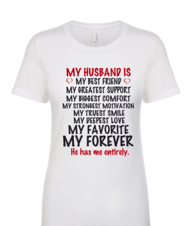 My Husband Is Women T Shirt Couple Shirts My Best Friend