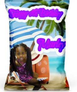 Personalized Luau Chip Bags