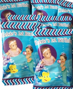 Personalized Mermaid Chip Bags
