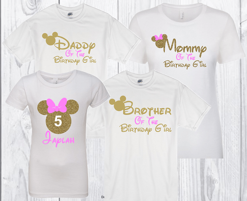 Family Disney Inspired Shirts Minnie Birthday Shirt Mickey
