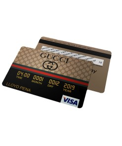 Gucci Credit Card Invitations