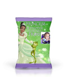Princess and Frog Chip Bag Printable