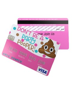 Poop Emoji Credit Card Invitation