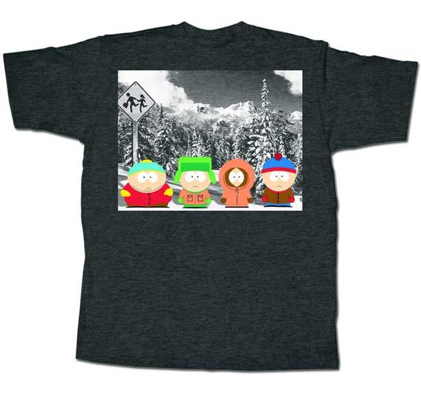 South Park Tee Shirt With Bus Stop