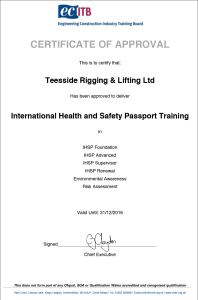 Company Approval Certificate IHSP