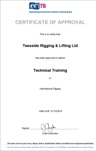 Company Approval Certificate Technical Training