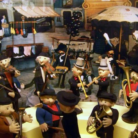 Stadtmusikanten im alten Spielmuseum